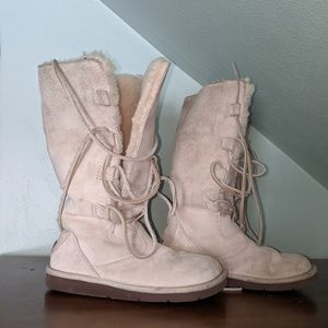 UGG Tall Suede Lace Up -Whitley Sz 6 - Style#5122